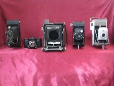 Antique Folding Camera Lot of 5 Graflex, Zeiss, Kodak etc..