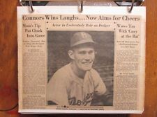 CHUCK CONNORS/JACKIE ROBINSON  350-Page  2 Albums/Sporting News Articles(1939-72
