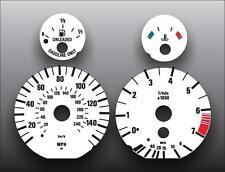 1996-2004 BMW E39 E38 E53 5 series Dash Cluster White Face Gauges