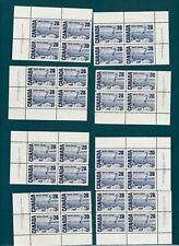 Canada #464 Ferry Sets Inscription Blocks (Pl.1 & 2) Dex Gum 1971 Centennial MNH
