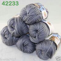 Sale Lot 6ballsx50g Soft Worsted Cotton Chunky Bulky Hand Knitting Shawl Yarn 33