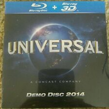Universal Blu-ray + Blu-ray 3D Demo Disc 2014 - HD Picture, Theater Sound - NEW