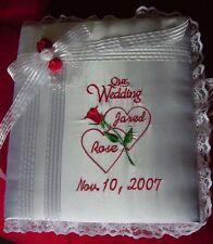 Personalized Satin Covered Wedding Bridal Bride Groom Photo Album 3 Ring Binder