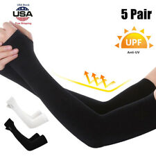 5PCS UV Sun Protection Cooling Arm Sleeves Compression Arm Cover Shield Sport