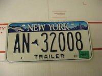 2005 05 New York NY License Plate Trailer AN32008 Natural Sticker