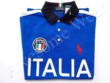 New Ralph Lauren Polo Pony Custom Fit 100% Cotton Blue Italy Shirt SLIM sz XXL