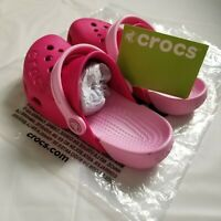 CROCS ELECTRO GIRLS CANDY PINK SIZE C11 KIDS CLOGS MULES SLIPPERS