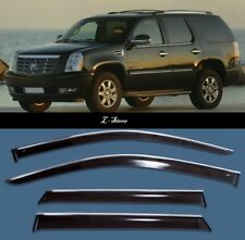Chrome Trim Side Window Visors Guard Vent Deflectors Cadillac Escalade 2007-2015