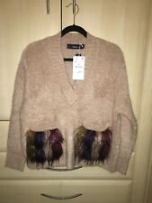New Oversized Zara Jumper (wool & Mohair Blend) With Fluffy Pockets Size M