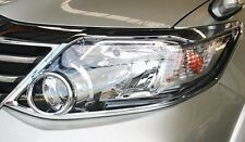FIT FOR TOYOTA FORTUNER 2012 2013 2014 CHROME COVER HEAD LIGHT LAMP