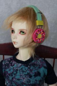 BJD Doll Dollfie Soundplay 1/3 Scale SD Headphones- Donut Pink Toy New Prop