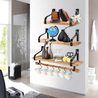 Set of 3 Floating Shelves Wall Mounted for Bedroom Bathroom Living Room Kitchen