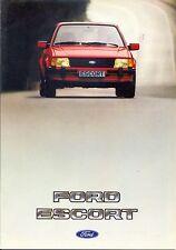 Ford Escort Mk3 L GL Ghia Spanish market 1982 sales brochure