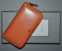 AUTHENTIC NEW TOM FORD ORANGE LEATHER LARGE ZIPPED WALLET