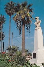 CYPRUS POSTCARD LARNACA KIMON STATUE AT FINIKOUTHES