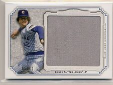 BRUCE SUTTER 2012 Topps Museum Momentous Material JUMBO JERSEY /10 CUBS *