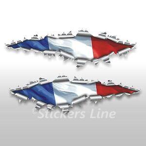 Adesivi bandiera FRANCESE strappo stickers cm 100 drapeau français French flag