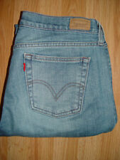 Levi Strauss 515 Women's Denim Blue Jeans Stretch Low Boot Cut 8 Med ins. 32 Nic