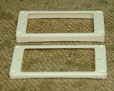 Guitar Humbucker Replacement Mounting Ring Set - New - Creme, with screws.