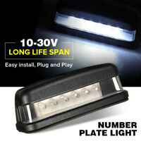 LED LICENSE NUMBER PLATE LIGHT UTE BOAT TRUCK TRAILER CARAVAN WATERPROOF 10-30V