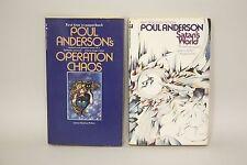 Poul Anderson- LOT x2- Operation Chaos/Satan's World- SF346