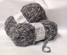 lot 5 pelotes de laine duo / cheval blanc / gris