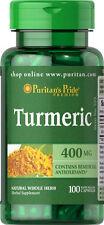 Puritan's Pride Premium Turmeric Curcumin 400mg x 100 Capsules. Antioxidents.