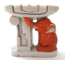 Vintage Ashtray Orange Elephant Art Deco Pillar Japan