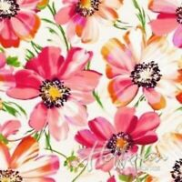 FLUTTERING FLORAL Cotton Print by Hoffman Fabrics BTY