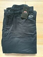 """Nike Tiger Woods Black Trousers W 31"""" L 30"""" 100% Cotton New with Tag Zip Fly B40"""
