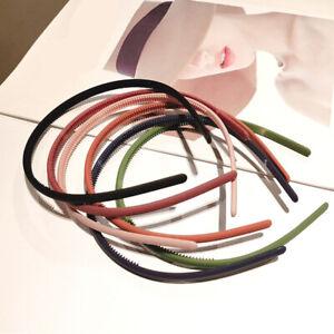 1PC Fashion New Women Candy Color Thin Plastic Headband Non-Slip Resin Hair Hoop