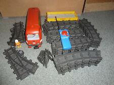 Playmobil ferrocarril set similar a 4010 con flachbordwaggon raíles, FB, etc.