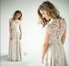 Custom Full LaceVintage Bridal Gown Wedding Dress Size 4-6-8-10-12-14++