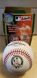 Cal Ripken Jr. UNSIGNED Rawlings OML retirement logo baseball Orioles HOF