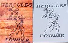 A4 ancienne vintage Hercules Powder Gun Caisse Boîte en bois de virer Stencil Army