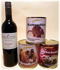 Dornfelder u. RATTENFILET 4 Set Rotwein Franken trocken