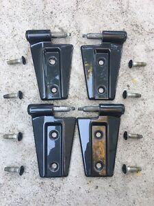 Jeep Wrangler JK OEM Door Hinge 4 Pieces Fits 07-18 Color Dark Charcoal Like New