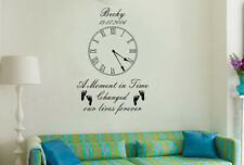 Personalised Kids Birth Date Vinyl Wall Art Clock Sticker Living Room