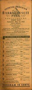 1945 War Year Narragansett Horse Racing Program OPENING DAY