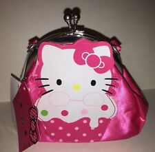 HELLO KITTY Sanrio Girls' Purse Bag PINK Cupcake Snap Closure Accessory NWT