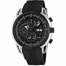 *BRAND NEW* Festina Men's Chronograph Rubby Strap Black Dial Watch F6820/4