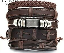 New Adjustable Braided Rope Metal Tribe Punk Cowboy Bohemian Leather Bracelet