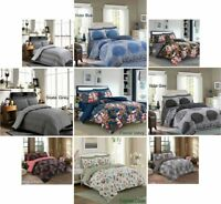 4 Pieces Complete Bedding Set Rich in Cotton Duvet Cover Fitted Sheet Pillowcase
