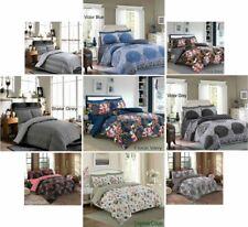 4 Pieza Quilt/Duvet Cover Completa Cama Set 2 Funda de Almohada profundidad 1 Hoja Equipada