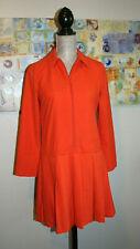 Gorgeous  Le Kilt X ASOS 🌸 Orange Pleated Zip Up Dress SZ: 4 Eu 36 NEW!