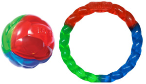 KONG Twistz Dog Toy Ball or Ring Fetch Chase Play Exercise Bouncy Durable Floats
