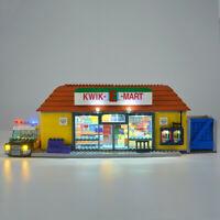LED Light Kit For Lego 71016 Simpsons Kwik-e-mart Building Blocks USB Lighting