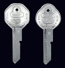 GM Chevy & Corvette Briggs & Stratton Key Blanks C & D 1968