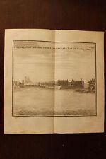 ✒ 18e Gravure PARIS vue prise de l'île Notre Dame vers l'île de la Cité