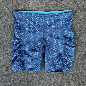 Lululemon Blue Shorts Side Pockets Compression Size 4 Hot HR Running Yoga Tights